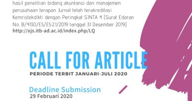 Call For Article Jurnal Liquidity Januari-Juli 2020